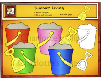 Free Clip Art for Summer - Sand Pails and Shovel