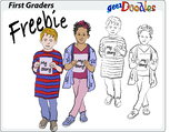 Free Clip Art of younger students
