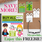Free Clip art Green Gift Box and TpT Sale GIFT4YOU