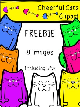 Free Clipart - Cheerful Cats