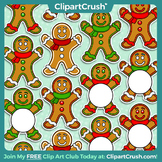 Royalty Free Clipart - Christmas Gingerbread Man, Icons, Accents, Labels!