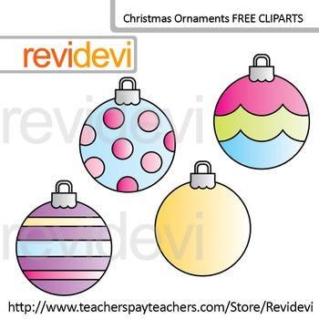 Free Clipart / Christmas Ornaments Round Shape Clip Art (s