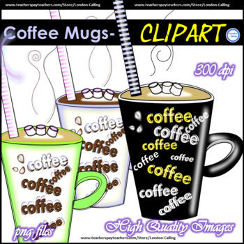 Free Clipart - Coffee Mugs -for personal and commercial use