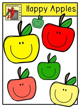 Free Clipart - Happy Apples