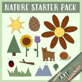 FREE Clipart Nature Starter Pack: Flowers, Trees, Animals & More!