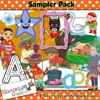 Free Clipart - RamonaM Graphics Sampler Pack