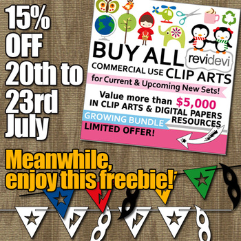 Free Clipart Superhero Bunting Banners