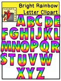 Rainbow Letter and Number Clipart