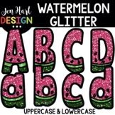 Free Clipart - Watermelon Glitter Letters Clip Art - Jen H