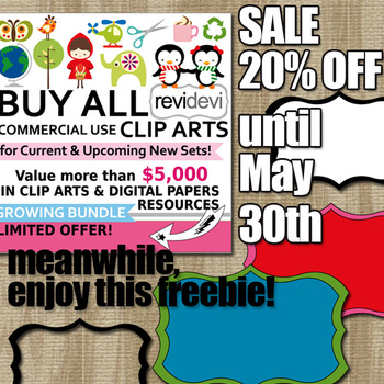 Free Clipart and 20% off sale for Buy All Growing Bundle