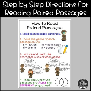 Free Paired Passages Anchor Chart for Close Reading