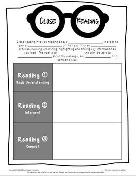 Free Close Reading Guide and Pencil Flags