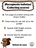 {Free} Collecting Acorns! Problem Solving: Three Levels, Spanish AND English