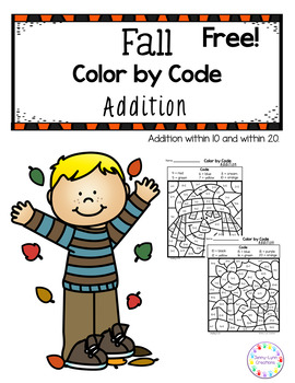 Free! Color By Code Fall Addition
