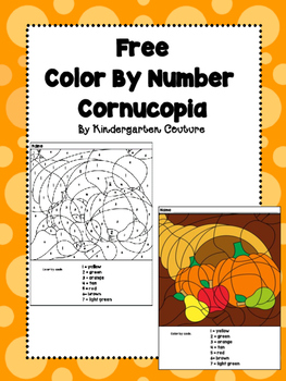 Free Color By Number  -Cornucopia