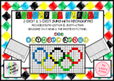Free Color Number Mystery Picture Olympic Rings Addition Subtraction Regrouping