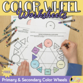Art Lesson: Color Wheel Worksheet Freebie {Art Sub Plans f