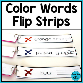 Free Color Words Work Task (Special Education)