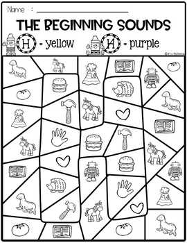 Free Color by Beginning Sounds