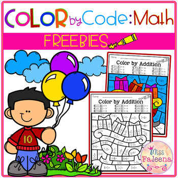 Free Color by Code – Math (Color by Number, Addition, Subtraction)