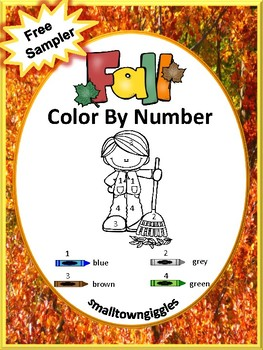 Free:Color By Code Fall  Kindergarten Special Education Fine Motor Skills