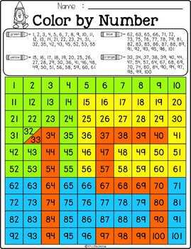 Free Color by Numbers – Hidden Numbers