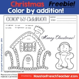 Free Color by number - Addition Christmas - Christmas acti