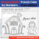 French Christmas Activity - Joyeux Noël - Color by number