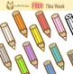 Free Color pencils Clip art