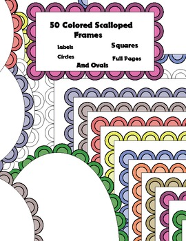 Free 50 Colored Scalloped Frames