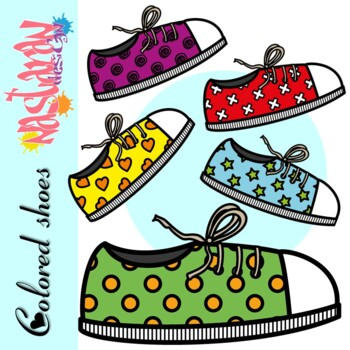 Free Colored Shoes Clipart