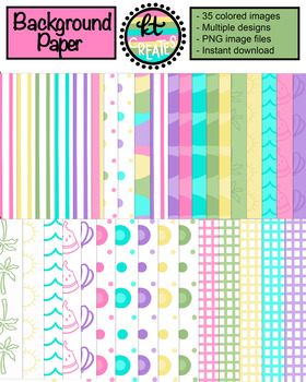 Colorful Background Papers - 35 Images Included