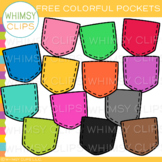 FREE Colorful Pocket Clip Art