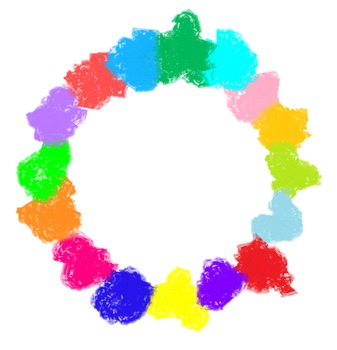 Free Colorful Round Splash Blob Borders for Commercial & Personal Use
