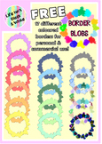 Free Colorful Round Splash Blob Borders for Commercial & P