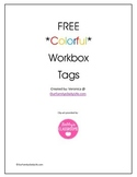 Free Colorful Workbox Tags