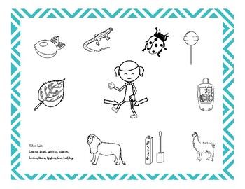 Free: Coloring Page /L/ Sound Targets