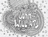 Free Coloring Page, Music, Composer  John Williams