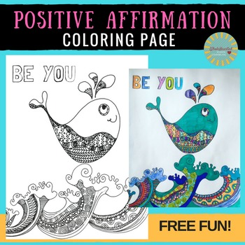 Free Coloring Page: Positive Affirmation Zentangle