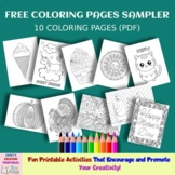 Free Coloring Pages Sampler - Set of 10 - Commercial Use Allowed