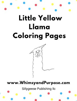 Free Coloring Pages for The Little Yellow Llama