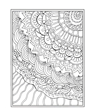 Free Coloring Zentangle Design