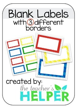 Free Colourful Blank Labels