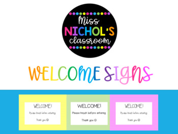 Colourful Welcome Signs Free