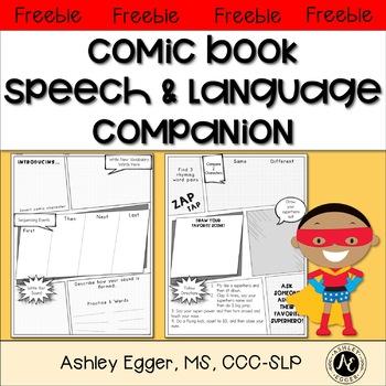Free Comic Book Companion: Speech and Language Therapy