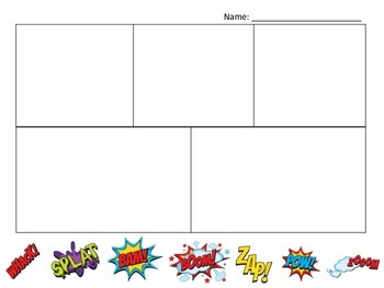 Free Comic Strip Template - Build Your Own Story + Cutouts
