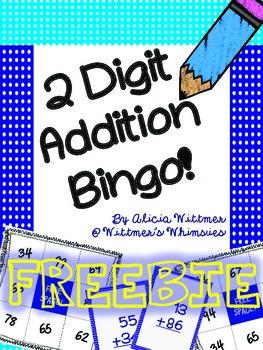 Free Common Core 2-Digit Addition Bingo!