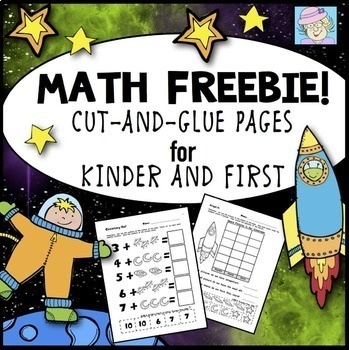 Kindergarten and First Grade Math Cut-and-Glue Workbook Pages (FREE!)