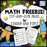Kindergarten and First Grade Math Cut-and-Glue Workbook Pages FREE