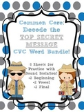 Common Core: Decode the Secret Message CVC Beginning, Vowel and Final  Sounds